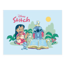 Lilo & Stitch | Reading the Ugly Duckling Postcard