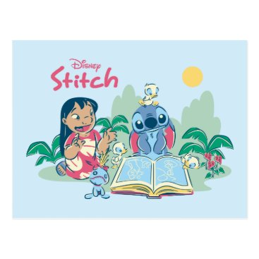 Disney Themed Lilo & Stitch | Reading the Ugly Duckling Postcard