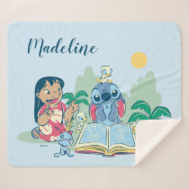 Lilo & Stitch | Reading the Ugly Duckling Sherpa Blanket