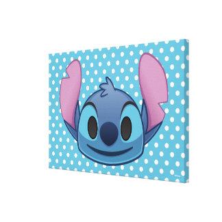Lilo & Stitch   Stitch Emoji Canvas Print