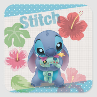 Lilo & Stitch | Stitch with Ugly Doll Square Sticker