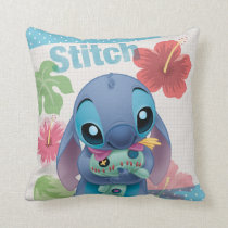 Lilo & Stitch | Stitch with Ugly Doll Throw Pillow