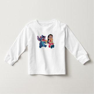 Lilo & Stitch's Lilo and Stitch Eating Ice Cream T Shirt