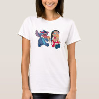 Lilo & Stitch's Lilo and Stitch Eating Ice Cream T-Shirt