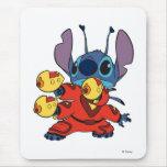 Lilo & Stitch's Stitch with Ray Guns Mouse Pad