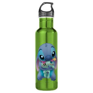 Lilo y cose la puntada del | con la muñeca fea botella de agua