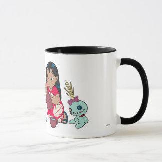 Lilo y fiesta del té de la puntada taza