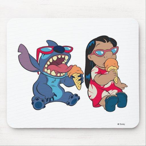 Lilo y Lilo y la puntada de la puntada que comen e Alfombrillas De Ratón