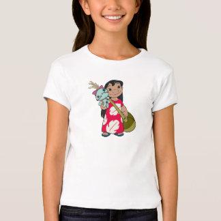 Lilo y puntada Lilo con mumu florecido rojo del Remera