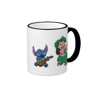 Lilo y puntada tazas de café