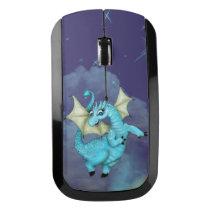 LILOU ALIEN DRAGON CARTOON   - Wireless Mouse