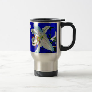 lily-227836  lily flower royal blue background nat travel mug