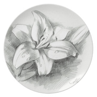 lily-2 dinner plate