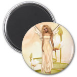 Lily 2 Inch Round Magnet