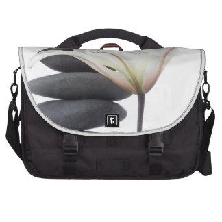 Lily and Black Stone Rocks Laptop Bag
