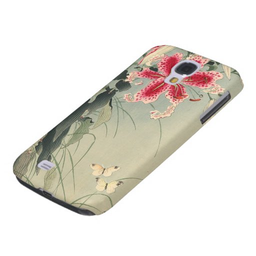 Lily and Butterflies by Ohara Koson HTC Vivid Cover
