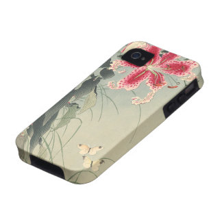 Lily and Butterflies by Ohara Koson iPhone 4/4S Cases