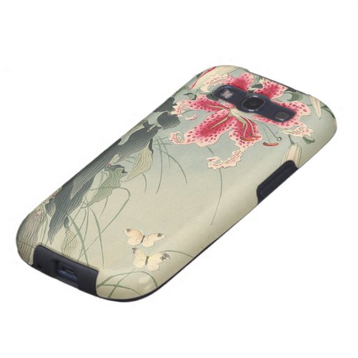 Lily and Butterflies by Ohara Koson Samsung Galaxy SIII Case