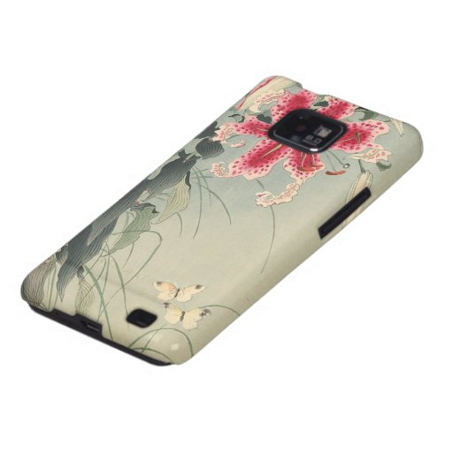 Lily and Butterflies by Ohara Koson Samsung Galaxy SII Case