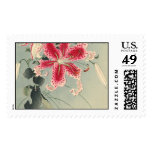 Lily and Butterflies by Ohara Koson Postage Stamp