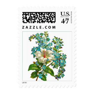 Lily and Forget-Me-Not Flowers Postage