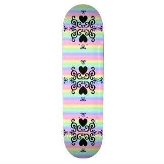 Lily and Heart Fantasy Rainbowart Custom Skate Board