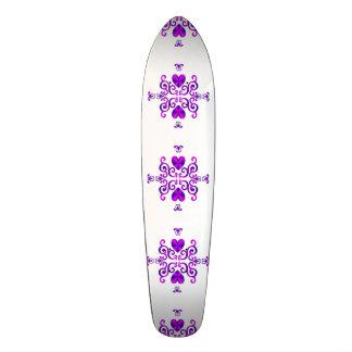 Lily and Heart Fantasy Rainbowart Skateboard