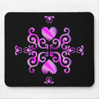 Lily and Heart- rainbowart Mouse Pad