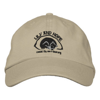 Lily and Hope in Den - Dark Embroidered Baseball Hat