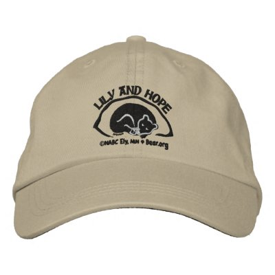 Lily and Hope in Den - Dark Embroidered Baseball Caps