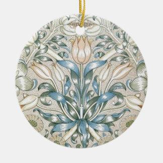 Lily and Pomegranate Vintage Floral Art Design Ceramic Ornament