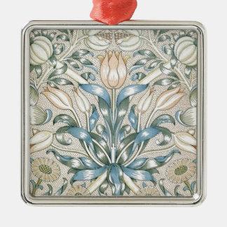 Lily and Pomegranate Vintage Floral Art Design Metal Ornament