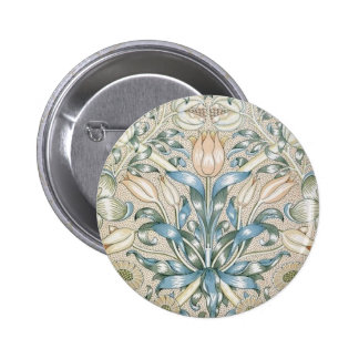 Lily and Pomegranate Vintage Floral Art Design Pinback Button