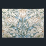 """Lily and Pomegranate Vintage Floral Art Design Placemat<br><div class=""""desc"""">Lily and Pomegranate Vintage Floral Art Design Serving Tray Lily and Pomegranate Vintage Floral Pattern. Lovely blue,  beige and yellow floral wallpaper design. William Morris was a textile designer and artist associated with the English Arts and Crafts Movement. Gifts for her, girly, garden.</div>"""
