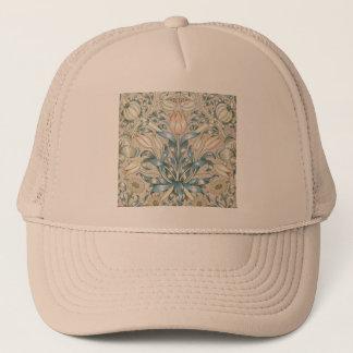 Lily and Pomegranate Vintage Floral Art Design Trucker Hat