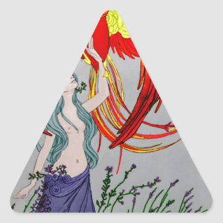Lily and the Phoenix Triangle Sticker