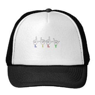 LILY ASL FINGERSPELLED NAME SIGN TRUCKER HAT