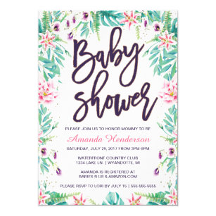 Lily baby shower invitations announcements zazzle lily baby shower invitation floral baby shower filmwisefo
