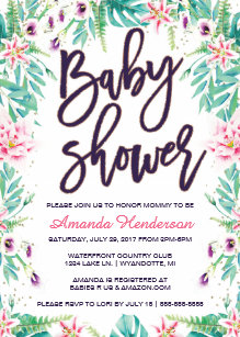 Lily Baby Shower Invitations Zazzle