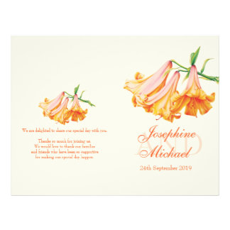 Lily bell Lilies large wedding programme Flyer