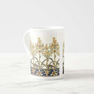 Lily Border by Alphonse Mucha Tea Cup