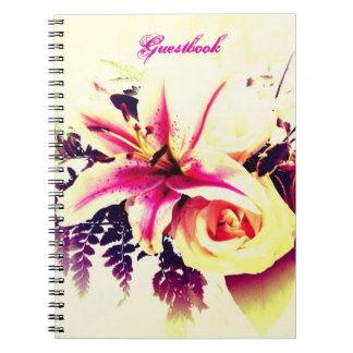 Lily Bouquet - Wedding/ Bridal Shower Guestbook Spiral Notebook