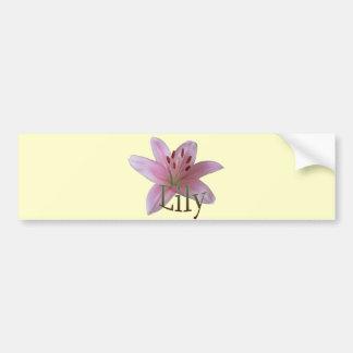 Lily Bumper Sticker