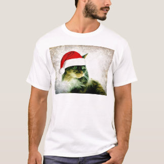 Lily Cat Chistmas Hat T-Shirt