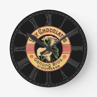 Lily Chocolates Round Wallclocks