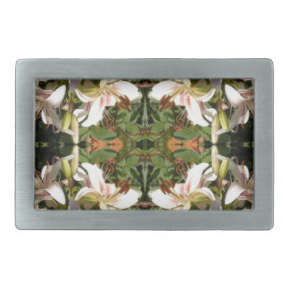 Lily Cluster  Mirrored Square Belt Buckle