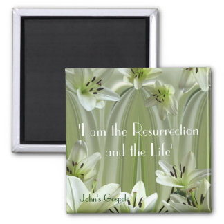 Lily composition 2 inch square magnet