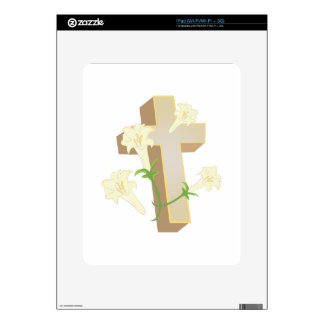 Lily Cross Decals For iPad