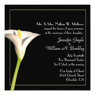 "Lily Custom Wedding Invitation 5.25"" Square Invitation Card"