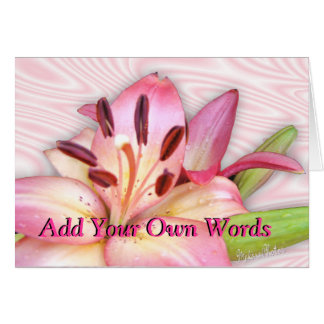 Lily-customize for any occasion greeting card